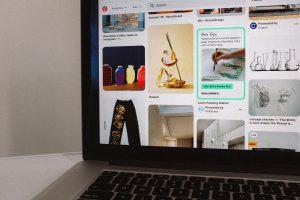 Tela inicial da rede social Pinterest